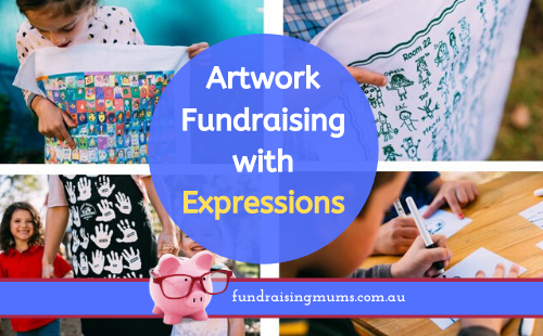 Artwork fundraising with Expressions | Fundraising Mums