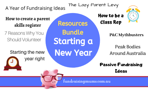 BUndle of resources for starting the new year | Fundraising Mums