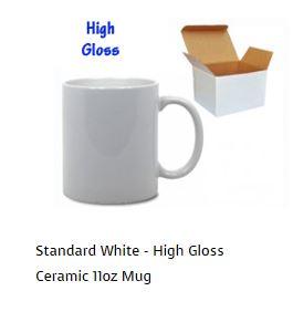 Standard white ceramic mug from Fundraising Mugs