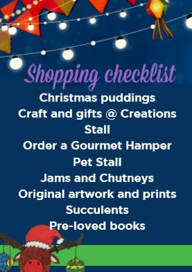 Shopping checklist for fete visitors | Fundraising Mums