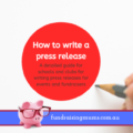 How to write a press release | School Events | Fundraising Mums