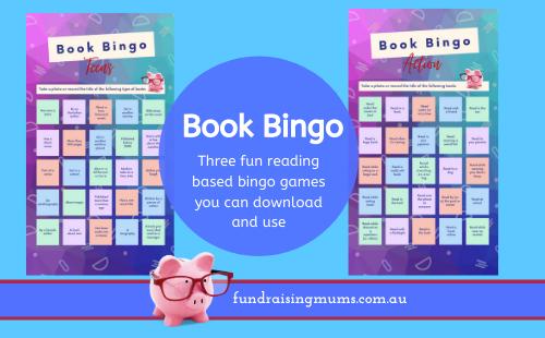 Book Bingo | Reading Based Bingo | Fundraising Mums
